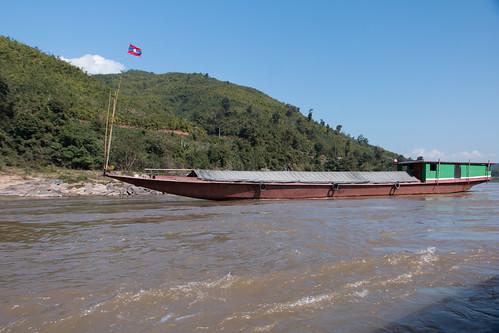 On Mekong River traveling from Houi Xai to Luang Prabang, Laos