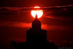San Luca Sanctuary (Luigi Sani) Tags: bologna bubble nikkor 500 catadiottrico specchio sunset tramonto sole sun soleil sanluca madonna santuario chiesa church sanctuary nuvole clouds