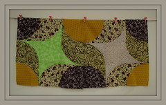 Two blocks (Patchwork Daily Desire) Tags: patchworkdailydesire patchwork drunkards churndash piecing quilting quilt quilted quilts crafts spring sky summer green yellow