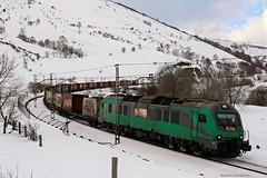 Después de un invierno malo... (manín) Tags: comsa nieve snow train tren