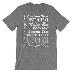 Custom Shirt Customized Shirts Personalized Shirts Custom Made Custom T Shirts Create Shirt Custom Text Custom Tee by 25VintagePlace (FitSoCal) Tags: etsy shirts tshirts tee funny music
