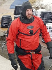 Ready for a few hours of cold water (chemsuiter) Tags: publicsafetydiver diver drysuit aqualungenviro hooded polarplunge2018 oshkosh