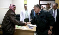 جلالة الملك عبدالله الثاني يتفقد الخدمات في مدينة الحسين الطبية ويطمئن على أحوال المرضى (Royal Hashemite Court) Tags: kingabdullahii al hussein medical centre jordan مدينة الحسين الطبية الأردن