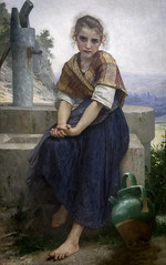 'The Broken Pitcher' by William-Adolphe Bouguereau (Greatest Paka Photography) Tags: thebrokenpitcher williamadolphebouguereau artist art legionofhonor ecoledesbeauxarts paris french painting teacher portrait conservativeacademicvalue academicart academicism eclecticism realism frenchacademyoffinearts lacruchecassée