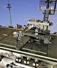 B-25B Mitchell in Doolittle Raid (Lego Admiral) Tags: lego legoadmiral b25 mitchell bomber plane warplane ww2 wwii usnavy us usa usaaf carrier japan pacificwar doolittle raid raider war