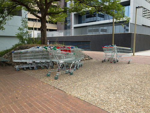 Abandoned shopping trolleys in Woden