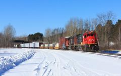 Rolling Through Munger (bkays1381) Tags: cn2111 proctor minnesota cn canadiannational munger railroad