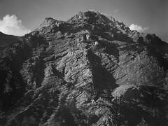 Late afternoon, Piz Cotschen, Ortler Range, Switzerland. (Kodak Tri-X at 1600) (hedshot) Tags: alps switzerland ga645zi fuji stelvio ingrainwetrust filmisnotdead bandw bw blackandwhite mountain trix kodak 120