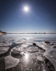 Eerikvalla (tommi.vuorinen) Tags: turku finland winter frosty ice icy water rock shore island archipelago sky serene cold leading line nature outdoor rural sea ocean snow beach bay moon light night star longexposure