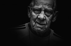 _-- (dagomir.oniwenko1) Tags: oldman men male man mono blackandwhite bw blackbackground england eyeglasses expression street style canon candid canoneos60d wrinkles portrait person portret people portraits ritratto retrato lincolnshire life adidas