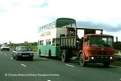 Group Gold (ekawrecker) Tags: truck lorry bus recovery scrap breakers yard merseyside ford cortina mkv peugeot 504 trade plate 739wa crane harveyfrost pte