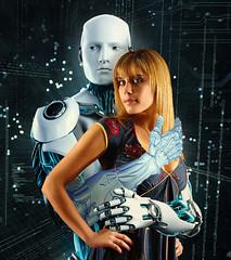 New family (jaci XIII) Tags: ciborg robot pessoa mulher ficçao fantasia cyborg person woman fantasy fiction