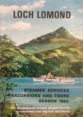 """1964 brochure for the ps """"Maid of the Loch"""" on Loch Lomond. (calderwoodroy) Tags: benlomond balloch maidoftheloch inlandlochsteamer inlandloch pleasuresailings steamerservice pleasuresteamer 1964 paddlesteamer caledoniansteampacketcompanylimited britishrailways lochlomond scotland"""