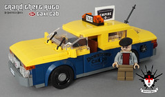 Grand Theft Auto - Vapid Taxi Cab -  By Barthezz Brick (Barthezz Brick) Tags: lego afol gta grand theft auto custom city taxi cab build car barthezz brick barthezzbrick
