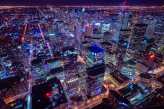 The Grid (Lee Chu) Tags: cntower downtown cityscape technoir rokinon12mmf20ncscs sonynex6 toronto ontario canada financialdistrict cyberpunk