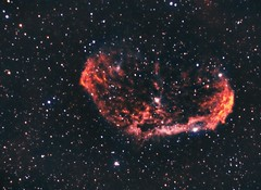 NGC6888 - Crescent Nebula Narrow Band Re-Worked (Twisted Astro) Tags: space sky stars gas pic nebula ngc cresent astronomy night