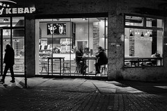 nightcrawler (glasseyes view) Tags: glasseyesview blackandwhite nightshot nightlights streetphotography aachen aixlachapelle kebap atnight hometown hopperlike