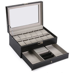 PU Leather Display Case Watches Storage Box Plastic Organizer for Jewelry Watch Accessories (1215540) #Banggood (SuperDeals.BG) Tags: superdeals banggood electronics pu leather display case watches storage box plastic organizer for jewelry watch accessories 1215540