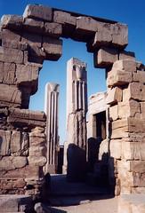 Papyrus & Lotus Pillars, Karnak Temple (Aidan McRae Thomson) Tags: karnak temple luxor egypt ancient egyptian ruins