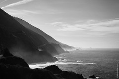 Morning Mist Of Big Sur, California (thedot_ru) Tags: shore mist ocean pacificocean sea mountains adventure travel wanderlust blackandwhite bw california usa bigsur canon5d 2014