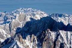 Massif du Mont Blanc, Mont Rose (Jean-Philippe Azaïs) Tags: chamonix montblanc massif montagne horizon neige alps tacul leschaux high aiguilledumidi aiguille mont rose
