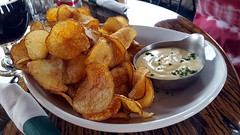 Chips with Beer Cheese Sauce (rabidscottsman) Tags: scotthendersonphotography chips kettlechips sauce cheesesauce brewery tanzenwaldbrewing mn minnesota saturday weekend crispy northfieldminnesota lunch potato potatochips appetizer cellphonephotography ricecountyminnesota crunchy delicious