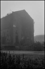 Wayward Traveler (argentography) Tags: kodak medalist medalistii trix fog ruin bartonville illinois midwest factory film