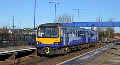 144012 calls at Swinton with the 2N20 Sheffield to Leeds, 7th Feb 2018. (Dave Wragg) Tags: 144012 class144 pacer 2n20 swinton northernrail dmu railcar railway