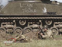 Lookin for Trouble (Lerro Photography) Tags: worldwarii wwii reenactment ddayconneaut ohio conneaut reenactor dday tank