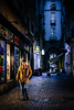 (Pavel Babienko) Tags: purple street pedestrian alley city sidewalk cobblestone zebra crossing crosswalk pavement urban stock architecture travel building night sky road light blue old italy milano milan europe candid streetphotography rustic vintage nocturnal torino turin urbandecay