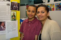 Black History Month Alive (Phil Roeder) Tags: desmoines iowa desmoinespublicschools jacksonelementaryschool blackhistorymonth jameshood georgewallace desegregation canon6d canonef50mmf18 student education school