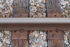 Railroad track (chrishil1973) Tags: railroad metal rails rust steel tracks