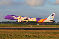 G-FBEM EMB-195 Flybe (eigjb) Tags: dublin airport international collinstown eidw ireland jet transport aviation plane spotting aircraft airplane airliner 2018 gfbem emb195 flybe embraer e190 special livery british european jersey regional