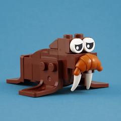 Cuddly Toys: Walrus (Swan Dutchman) Tags: lego toy cuddlytoy stuffedtoy plushtoy plushies snuggies stuffies snuggledanimals stuffedanimals softtoys knuffel knuffelbeest knuffeldier walrus