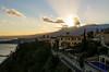 Etna sunburst (ciccioetneo) Tags: nikond7000 nikon2470mmf28 nikon2470mm etna taormina messina sicilia sicily sunset tramonto sunburst