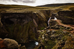 Wang Song & Ran (LalliSig) Tags: wedding photographer iceland people portrait portraiture pink fjarðárgljúfur canyon cliffs