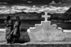 Pleasant path cross ! (poupette1957) Tags: art atmosphère architecture black canon city curious costumes deco graphisme humanisme imagesingulières sky life landscape lady monument monochrome noiretblanc noir photographie people rue religion street sea voyage