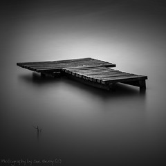 Marooned in a Mill Pond #1 (Fiverdog) Tags: carrmilldam sthelens merseyside leefilter bigstopper longexposure le bw monochrome fishingplatform fishing water nikond750