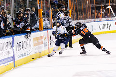 "Kansas City Mavericks vs. Toledo Walleye, January 19, 2018, Silverstein Eye Centers Arena, Independence, Missouri.  Photo: © John Howe / Howe Creative Photography, all rights reserved 2018. • <a style=""font-size:0.8em;"" href=""http://www.flickr.com/photos/134016632@N02/25965926858/"" target=""_blank"">View on Flickr</a>"