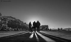 Walking in front of the sun (alessandrochiolo) Tags: siciliabedda fujix30 fuji biancoenero blackandwhite sicily sicilia
