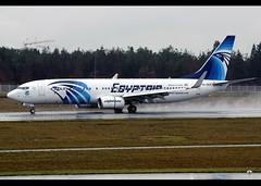 B737-866/WL | EgyptAir | SU-GEG | World Youth Forum | FRA (Christian Junker | Photography) Tags: nikon nikkor d800 d800e dslr 70200mm aero plane aircraft boeing b737866wl b737800wl b737wl b738wl b73h b737 b738 b737800 egyptair ms msr ms785 msr785 egyptair785 sugeg staralliance narrowbody winglet worldyouthforum speciallivery specialcolour specialscheme arrival landing 25r reverser touchdown rain strobe airline airport aviation planespotting 63799 6269 637996269 frankfurtinternationalairport rheinmain rheinmaininternationalairport fra eddf fraport frankfurt frankfurtmain hessen hesse germany europe spotterpointnorth diedüne thedune christianjunker flickraward flickrtravelaward worldtrekker superflickers zensational