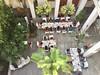 Restaurant at Villa Shanti in Pondicherry (Tjeerd) Tags: frenchquarter whitetown pondichéry india tondainadu puducherry pondicherry villashanti ruesuffren unionterritory boutiquehotel lunch villeblanche pondy 14ruesuffren view viewfromabove