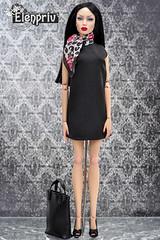 """Little Black Dress"" collection by ELENPRIV (elenpriv) Tags: sybarite vivir genx superfrock superdoll fashion 16inch 16fashion elenpriv elena peredreeva little black dress collection"