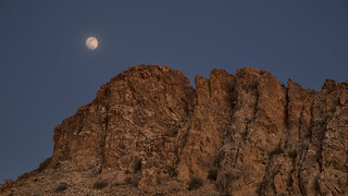 Moon-rise over Grapevine Hills, Big Bend National Park
