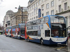 You Wait For One & Three Turn Up (Gary Chatterton 4 million Views) Tags: stagecoach doubledecker bus piccadillygardens manchester coach publicservicevehicle publictransport busstop vehicle passengertransport canonpowershot flickr photography explore amateur