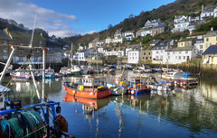 The harbour at Polperro, Cornwall (Baz Richardson (back on 26 May)) Tags: cornwall polperro cornishharbours fishingboats villages