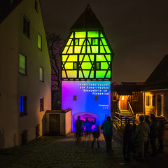 Lichternacht 2017 -Färbertörl (Tobias Keller) Tags: 43 architektur bavaria bayern deutschland donauries donauwörth färbertörl germany herbst hochformat lichternacht schwaben swabia weitwinkel weitwinkelkonverter architecture autumn fall exif:isospeed=400 geocountry camera:make=panasonic geocity geostate exif:aperture=ƒ25 geo:lon=10778753766667 exif:make=panasonic camera:model=dmcg5 geolocation exif:lens=lumixg14f25 exif:model=dmcg5 geo:lat=48718025766667 exif:focallength=14mm lumixg14f25 panasonicdmcg5