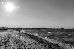 Heiligenhafen 2012 (karlheinz klingbeil) Tags: beach ostsee monochrome strand sand ocean balticsea meer heiigenhafen