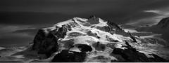 Zermatt, Matterhorn, xpan (Fabio Stoll) Tags: analog black white fomapan action 400 self developed ishootfilm filmisnotdeat einfarbig hasselblad xpan ii outdoor camping landschaft abhang feld fotorahmen breitformat iceland geisir drive roadtrip nature moody fomatol lqn wasser foss glacier zermatt matterhorn switzerland