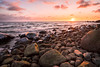 Sunset 14.1.2018 (Ben Melander Photo (BM Photo)) Tags: emäsalo sony vibrant susnet sea a7ii batis18 bmphoto stones colors warmcolors